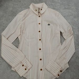 Authetic Vivienne Westwood  pink striped shirts